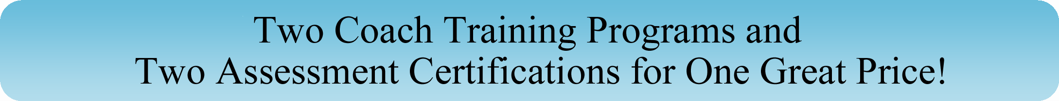 Coaching Certification Specials